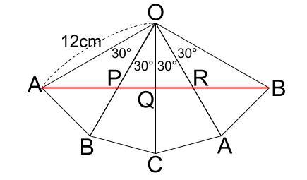 中学数学・高校受験chu-su- 三角錐表面に糸を巻く 4周 その3