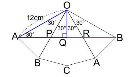 中学数学・高校受験chu-su- 三角錐表面に糸を巻く 4周 その4