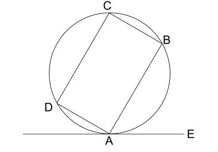 中学数学・高校受験chu-su- 接弦定理の例題1